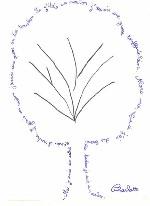 calligrammes feuille 1